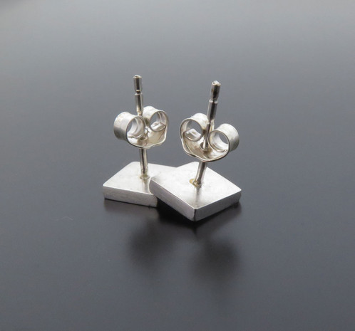 Small Sterling Silver Earring Studs With Owl On It The Is Solid 925 Tiny And Special Posts Each Was Handmade By Myself