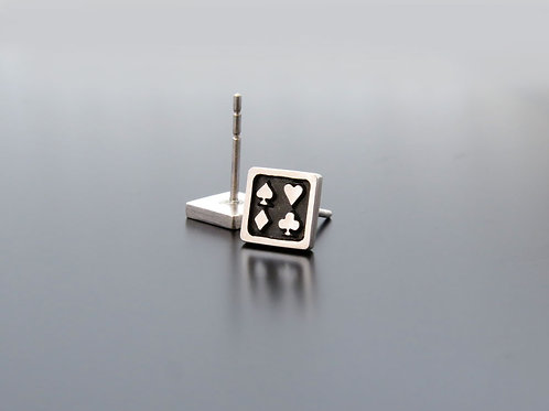 Playing cards suit earrings, poker earrings