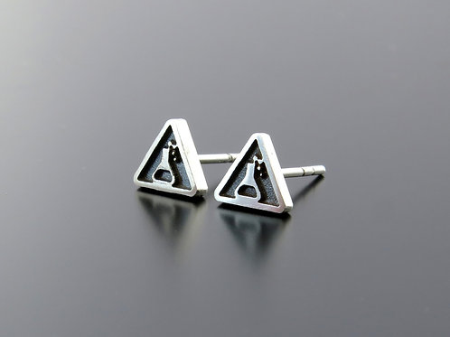 Gift for pharmacist, Laboratory Silver Earrings,