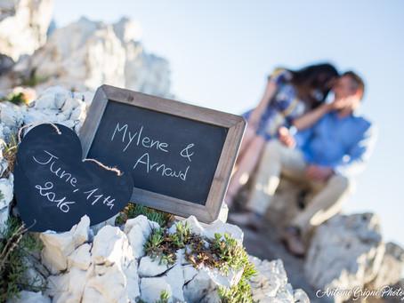 Séance engagement de Mylène et Arnaud - Antibes