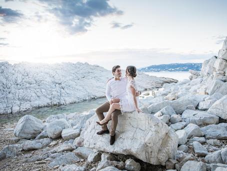 La séance engagement de Chloé et Mathieu - Cap d'Antibes