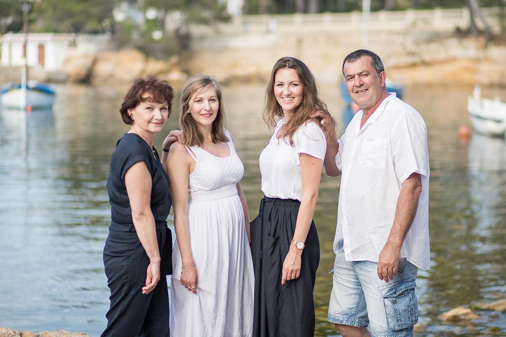 Seance photo en famille au Cap d'Antibes