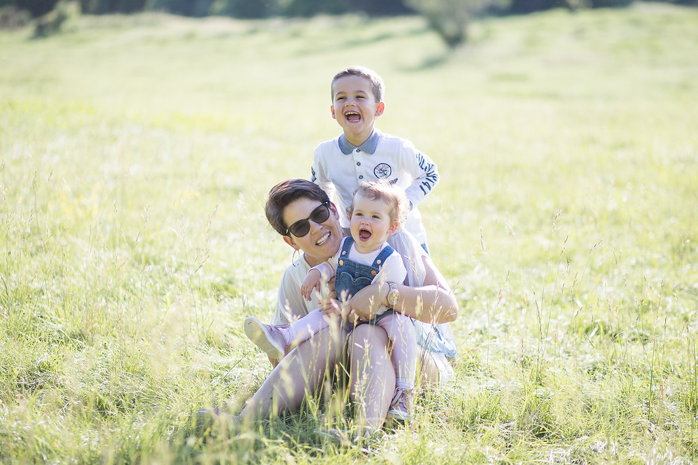 Seance photo en Famille à l'Etang de Fontmerle - Mougins