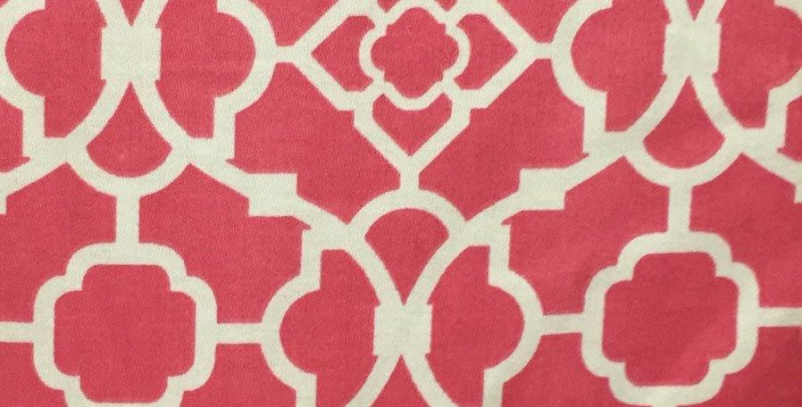 Trellis - Pink - Upholstery Fabric