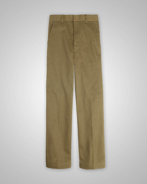 OLPH Boy's Khaki Pants Flat-Front (Regular 4-7) - 5th - 8th Grade Only