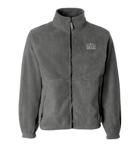 OLPH Youth Full Zip Charcoal Fleece Jacket