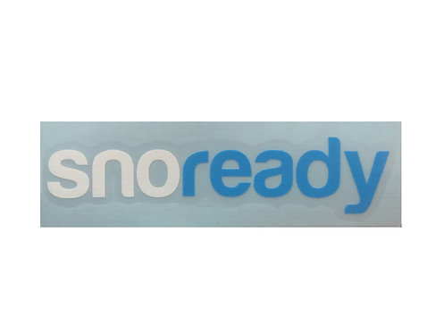 Sno Ready Logo Vinyl Cut Sticker