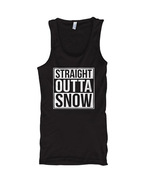 Straight Outta Snow Black Tank