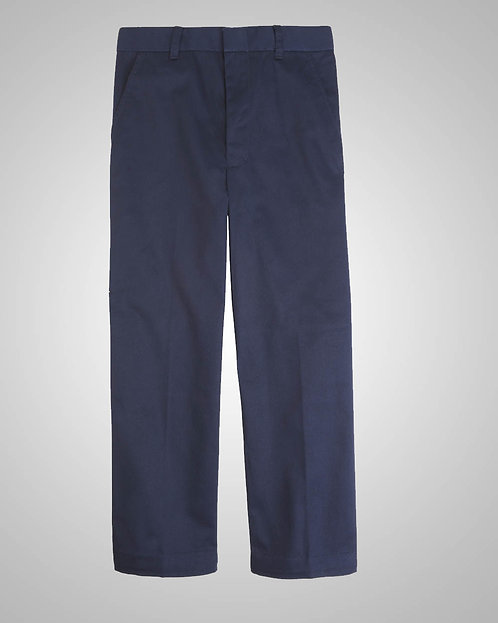 OLPH Boy's Navy Pants Flat-Front (Regular 4-7) - K - 4th Grade Only