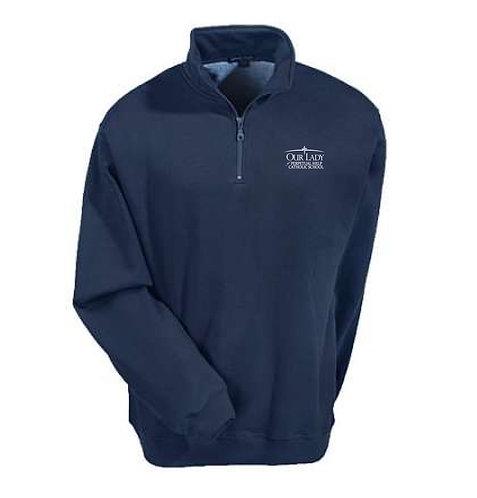 OLPH Adult Unisex 1/4 Zip Navy Sweatshirt