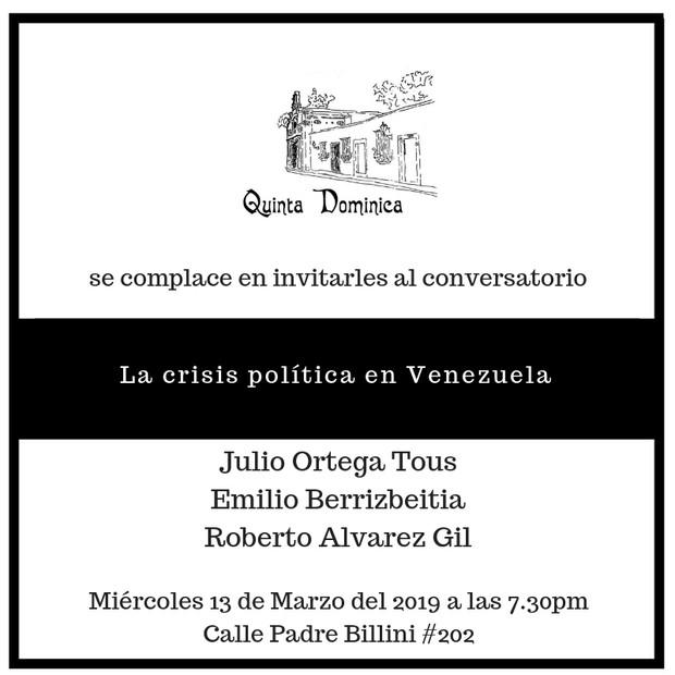 """""""La crisis política en Venezuela"""""""