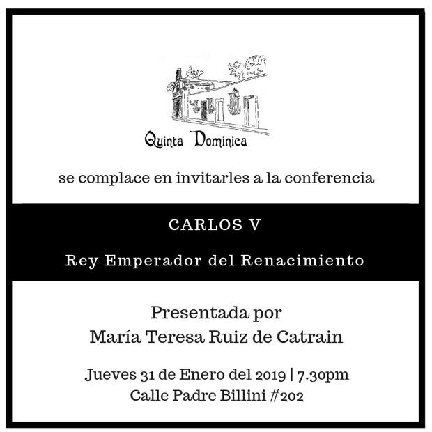 """Conferencia """"Carlos V, Rey Emperador del Renacimiento"""""""
