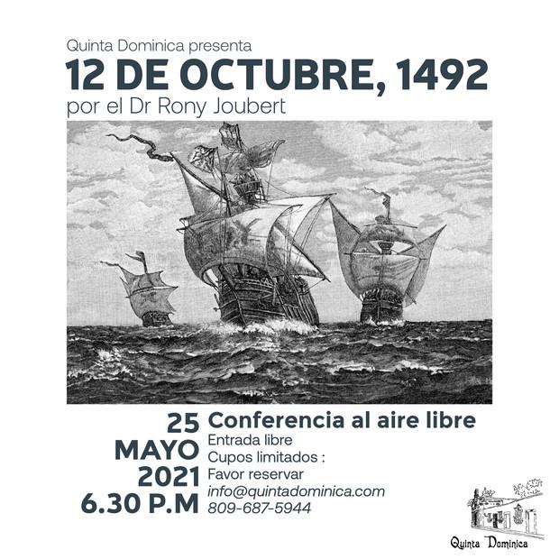 Conferencia : 12 DE OCTUBRE, 1492
