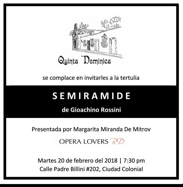 SEMIRAMIDE de Gioachino Rossini