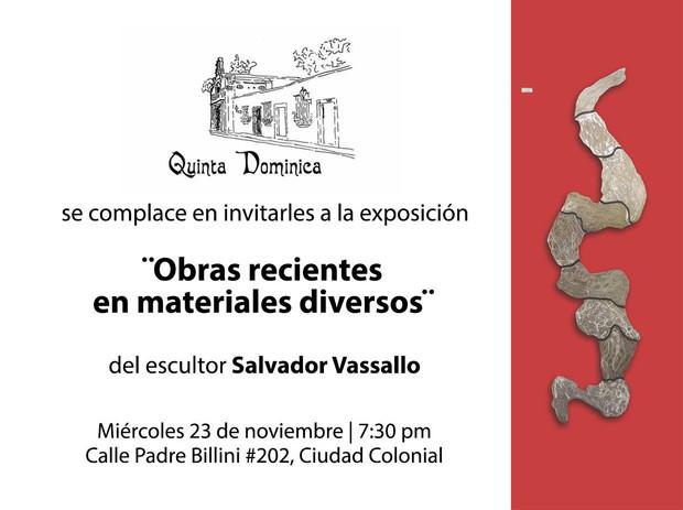 Exposición del escultor Salvador Vassallo