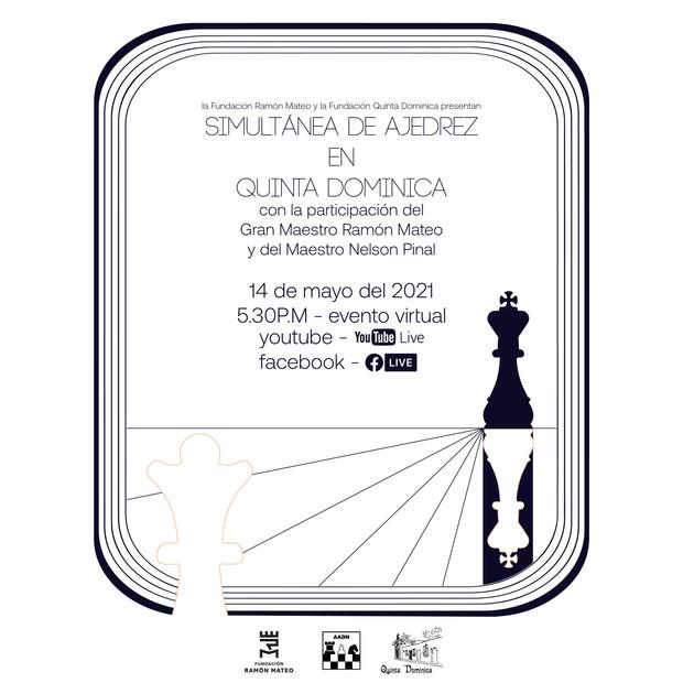 Evento virtual : Simultánea de ajedrez en Quinta Dominica