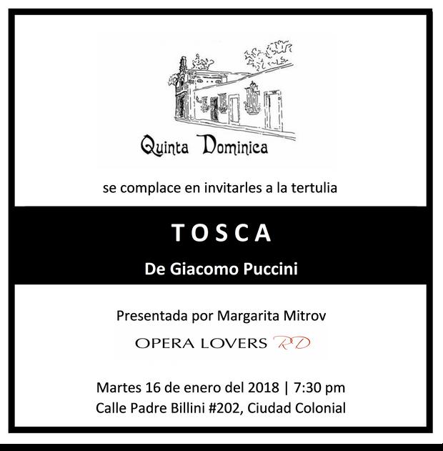 TOSCA de Giacomo Puccini por Margarita Mitrov