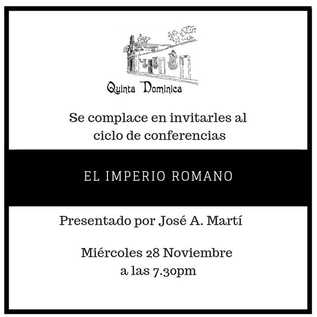 Ciclo de conferencia el IMPERIO ROMANO