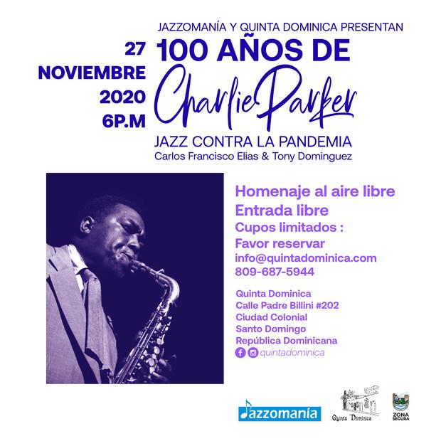 """Conferencia : """"100 años de Charlie Parker - jazz contra la pandemia"""""""
