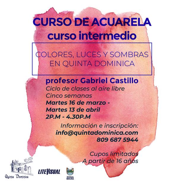 Curso de acuarela intermedio : perfeccionamiento y técnica en Quinta Dominica