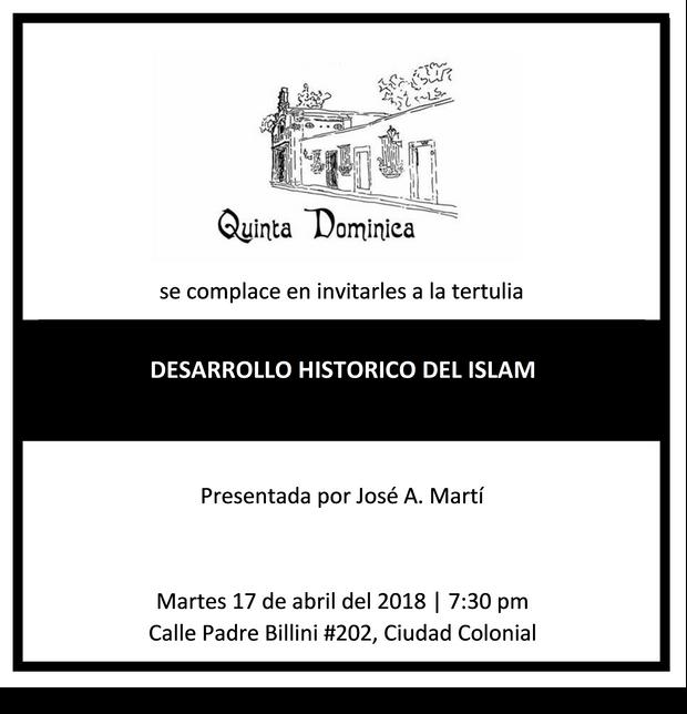 "Tertulia ""Desarrollo Histórico del Islam"""