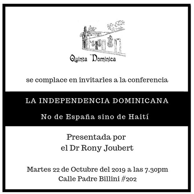 Conferencia LA INDEPENDENCIA DOMINICANA