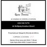 Tertulia Opera #3 Cosí Fan Tutte de Wolfgang Amadeus Mozart