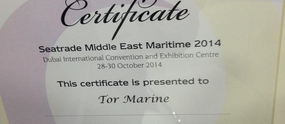 Tor Marine awarded by Seatrade