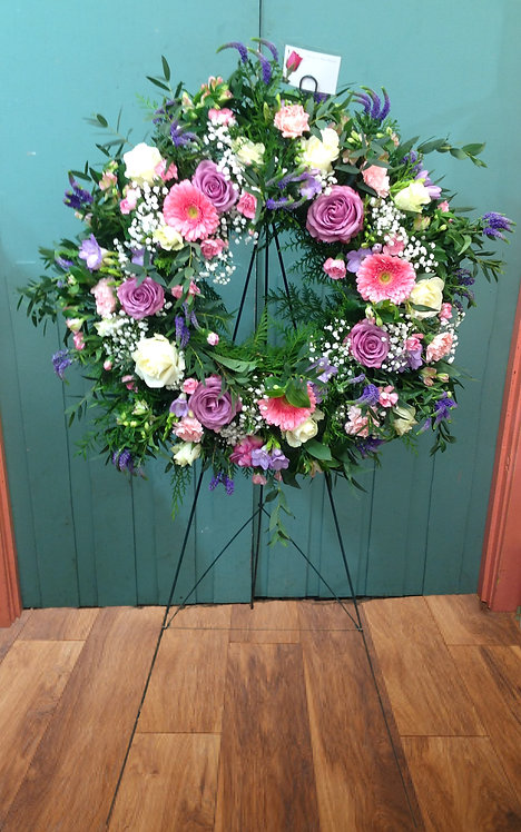 Large Wreath on Stand