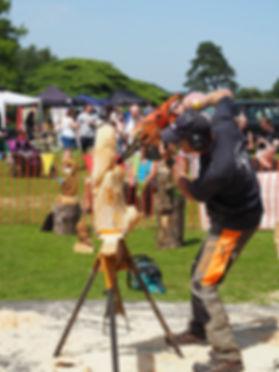 Ian Murray carving at RetroFest events UK