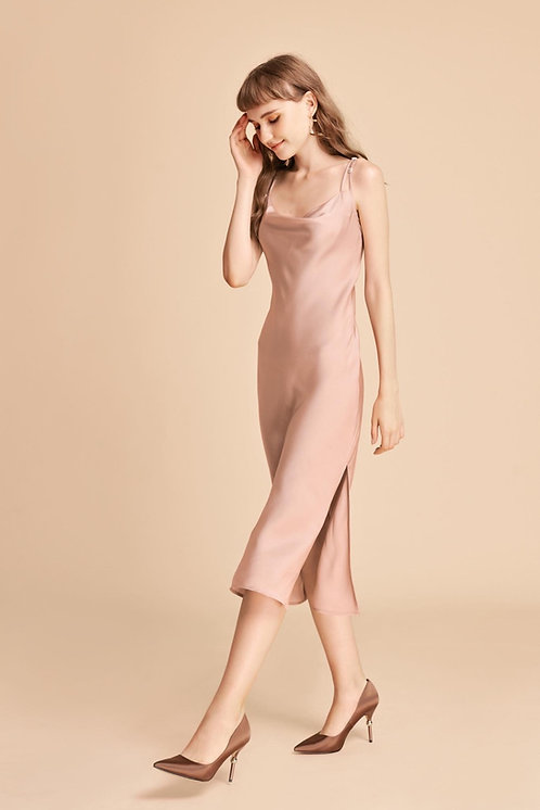 Wine Night Silk Dress