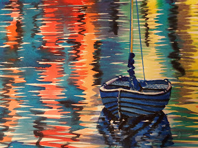 watercolour boat