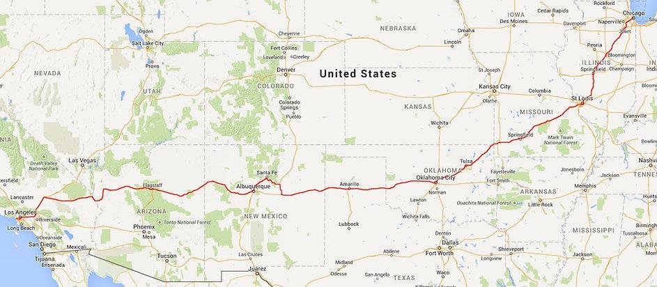 route 66 trajet