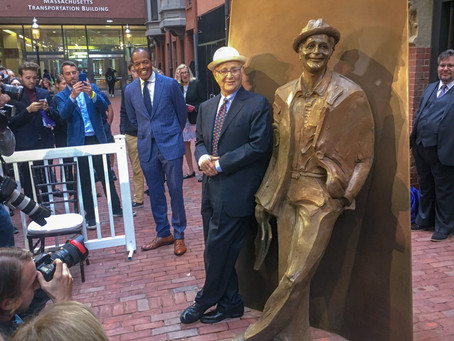 Alumnus receives first on-campus statue in Boylston Place Alley