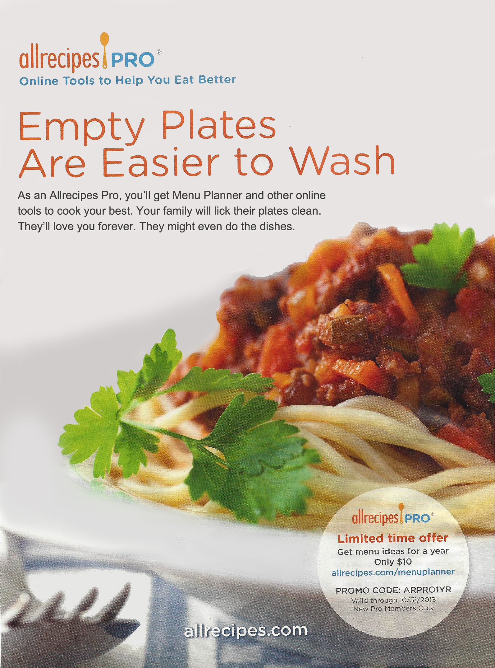 Allrecipes Print Ad
