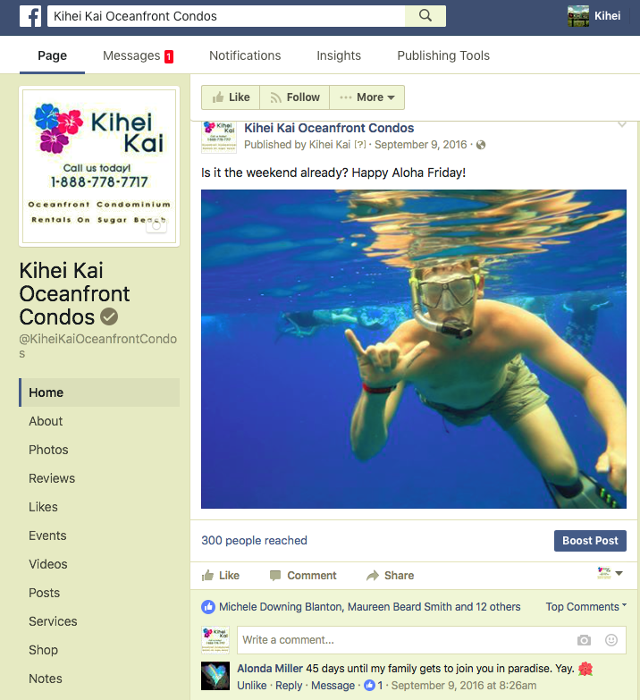 Kihei Kai Social Media Management