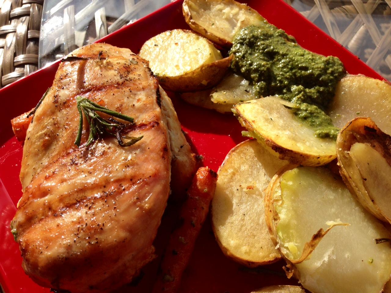 Rebecca Kraus: Grilled Chicken Pesto