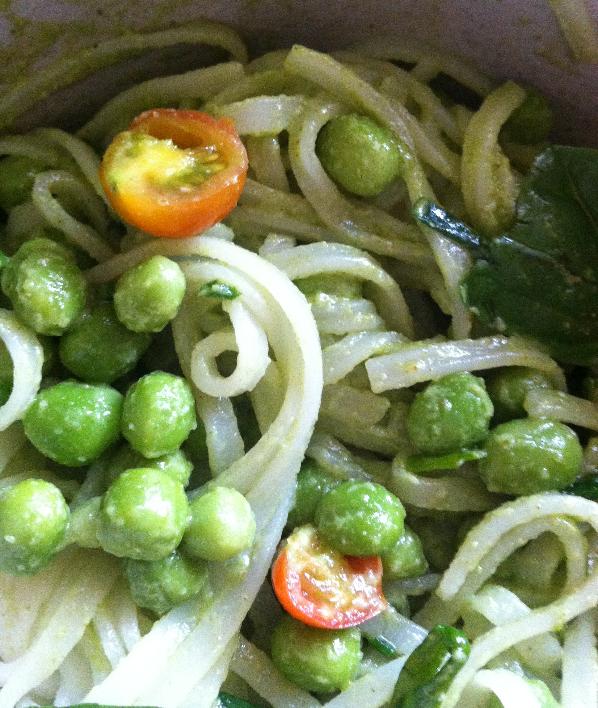 Rebecca Kraus: Pea, Pesto Noodles