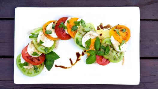 Mixed Tomato Caprese Salad