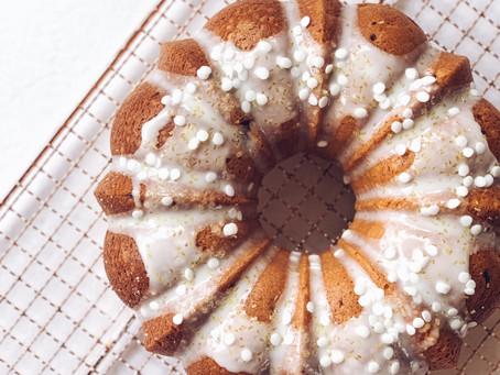 Lemon Raspberry Bundt Cake