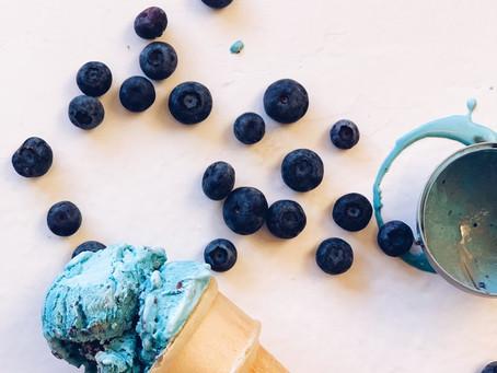 Ice cream: Blueberry Crumb