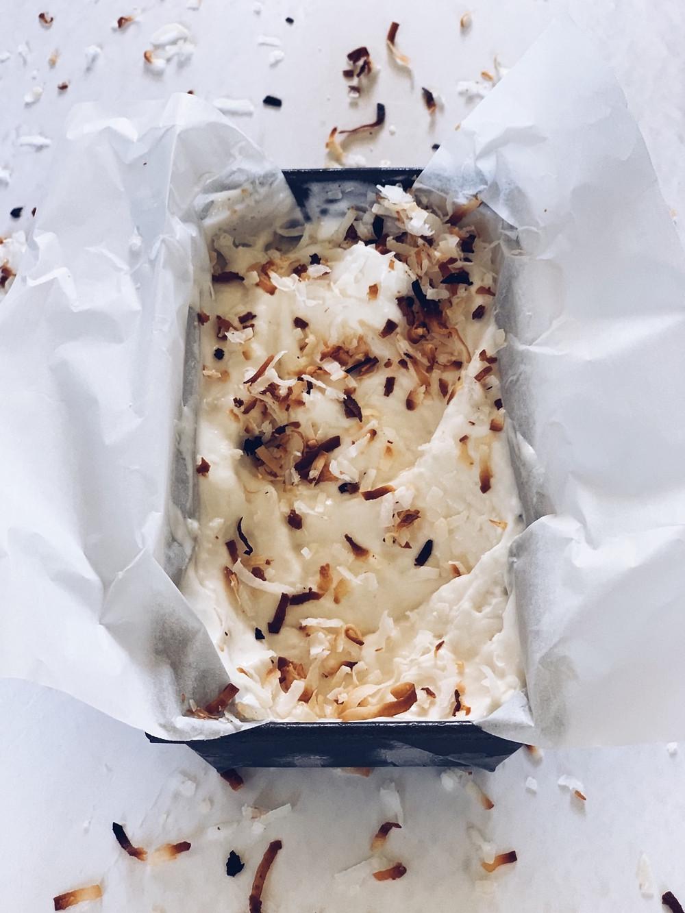 Coconut rum ice cream