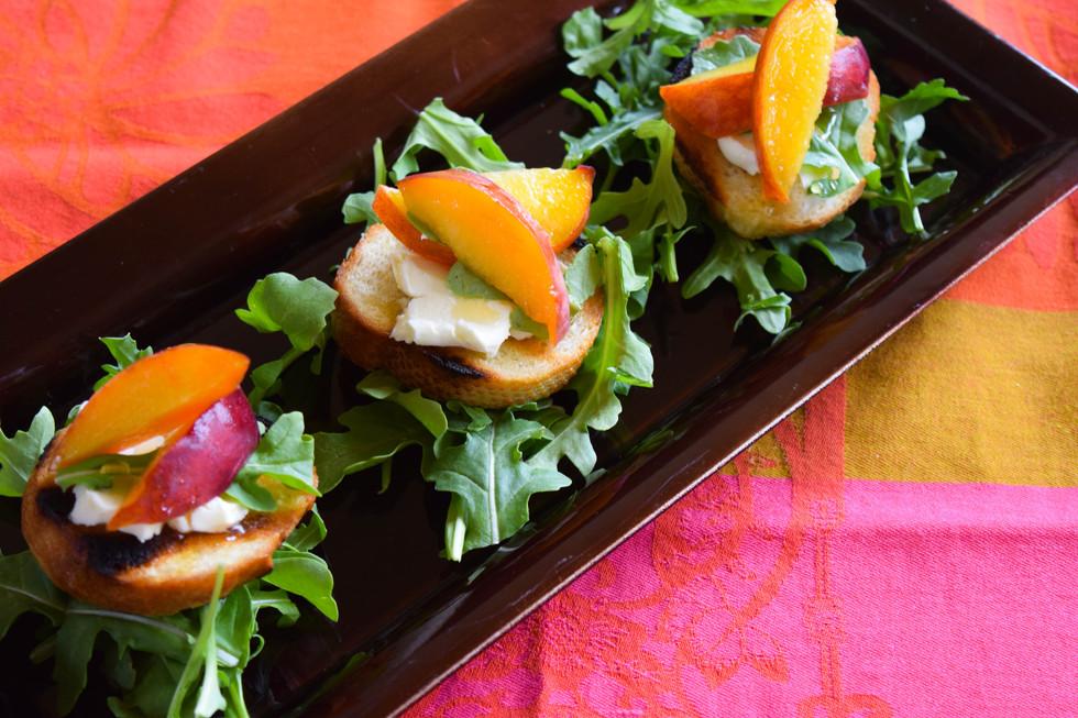 Chargrilled Peach Crostini