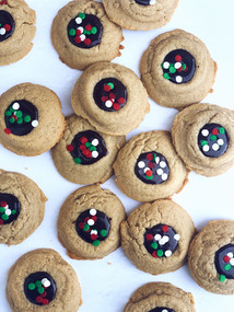 Peanut Butter Thumbprints with Chocolate