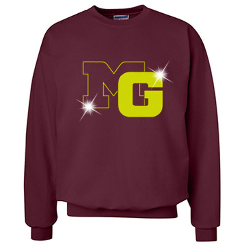 MG Crew Neck Sweatshirt - Glitter