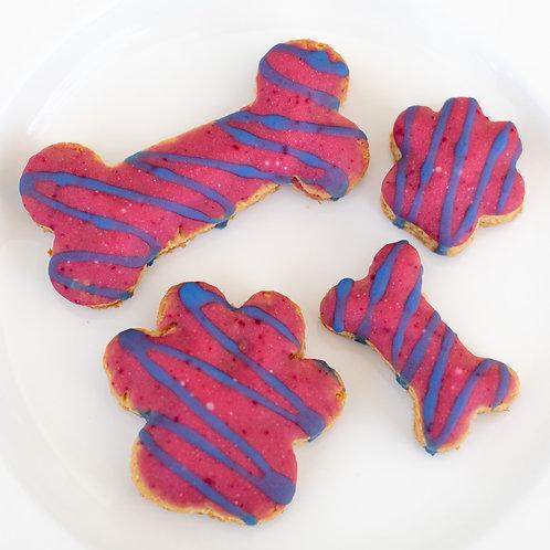Raspberry and Blue Spirulina Cookies