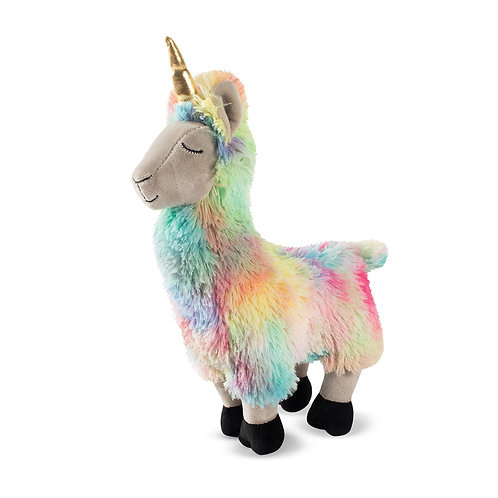 Fringe Studio I Want To Be A Llamacorn Rainbow Llama Unicorn Plush Dog Toy