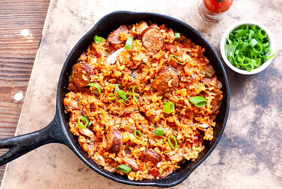 Chicken and Chicken Andouille Jambalaya
