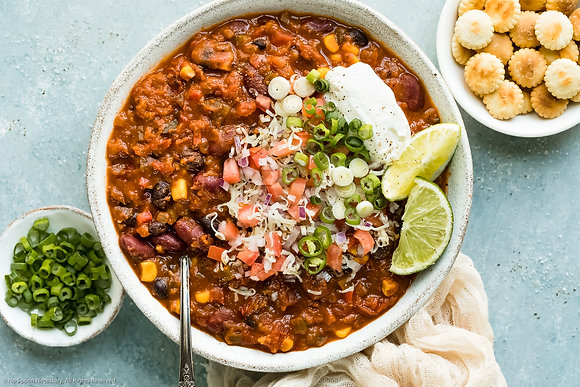 3 bean southern style chili