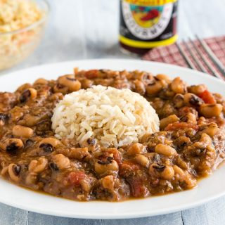 Black Eyed Peas and White Rice